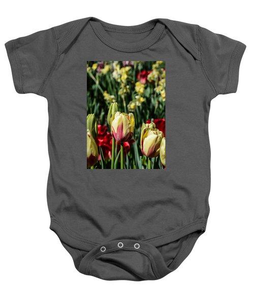 Tulip Garden Baby Onesie