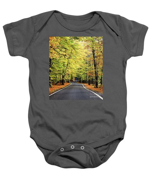 Tunnel Of Trees Baby Onesie
