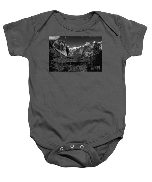 Tunnel View Black And White  Baby Onesie
