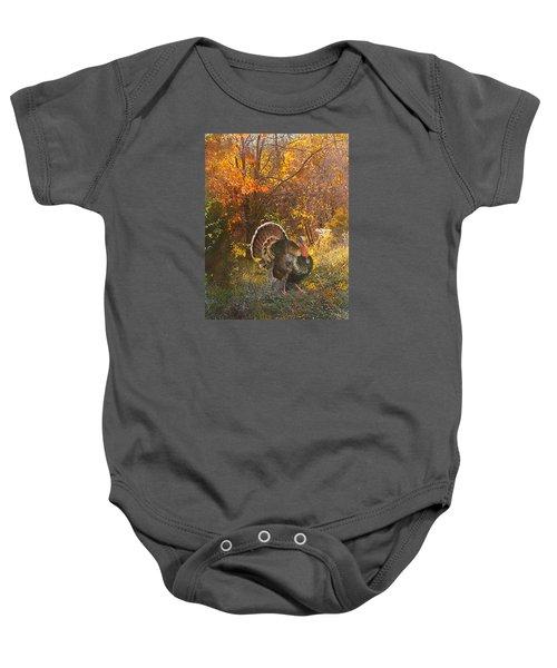 Turkey In The Woods Baby Onesie