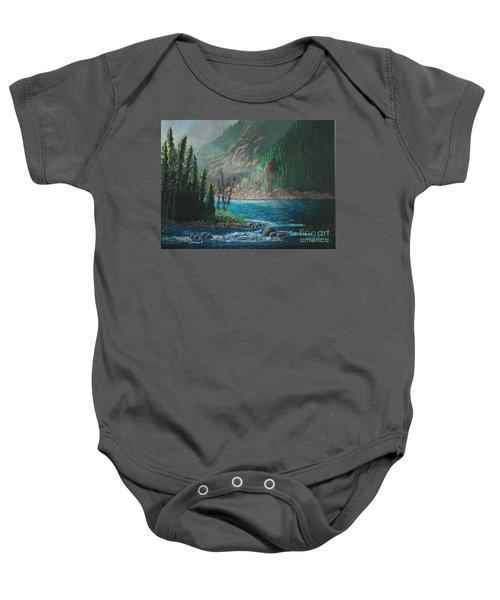 Turquoise River Baby Onesie