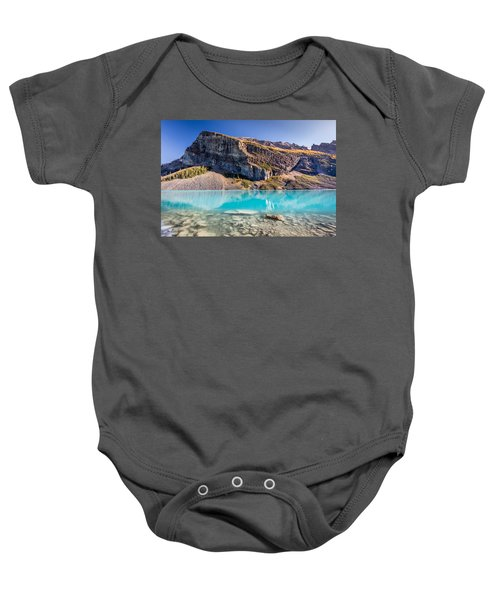 Turquoise Water Of The Scenic Lake Louise Baby Onesie