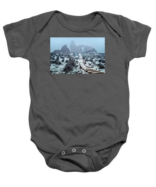 Turret Arch In The Fog Baby Onesie