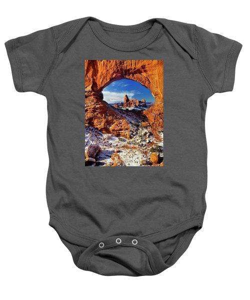 Turret Arch Through North Window Arches National Park Utah Baby Onesie