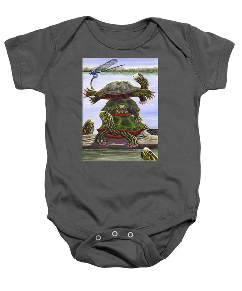 Turtle Circus Baby Onesie