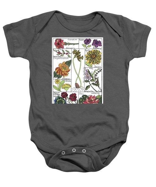 Twelve Month Flower Box Baby Onesie