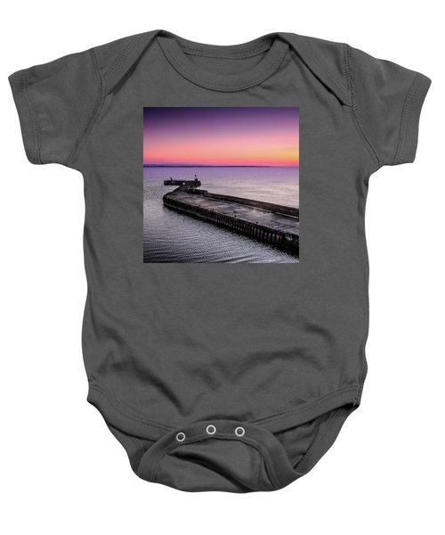Twilight, Burghead Harbour Baby Onesie