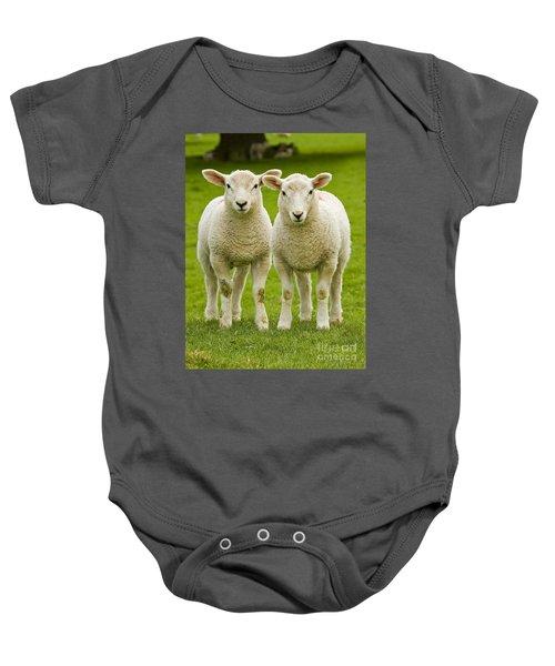 Twin Lambs Baby Onesie