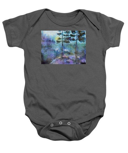 Twin Pines Baby Onesie