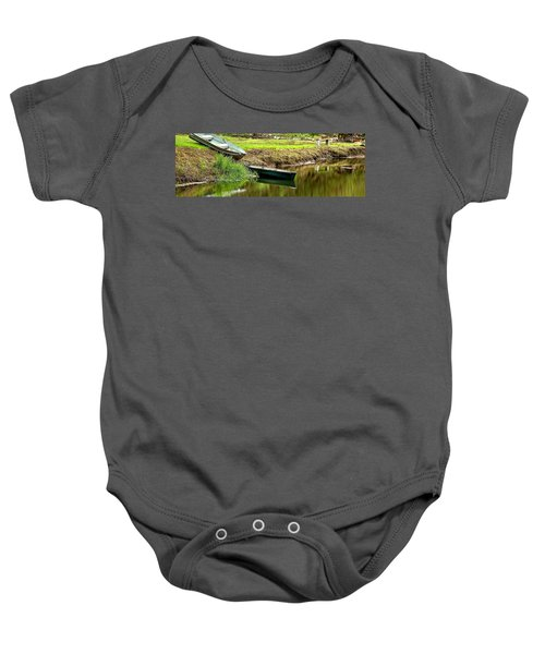 Two Boats Reflection 1024 Baby Onesie