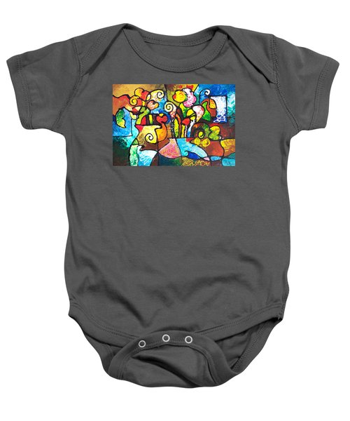Two Bouquets Baby Onesie