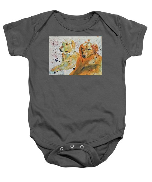 Two Dogs Baby Onesie