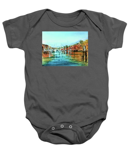Two Harbors Catalina Morning Impressions Baby Onesie