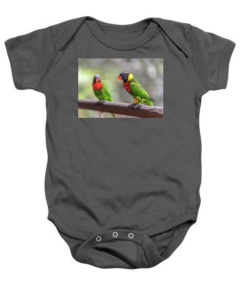 Two Parrots Baby Onesie