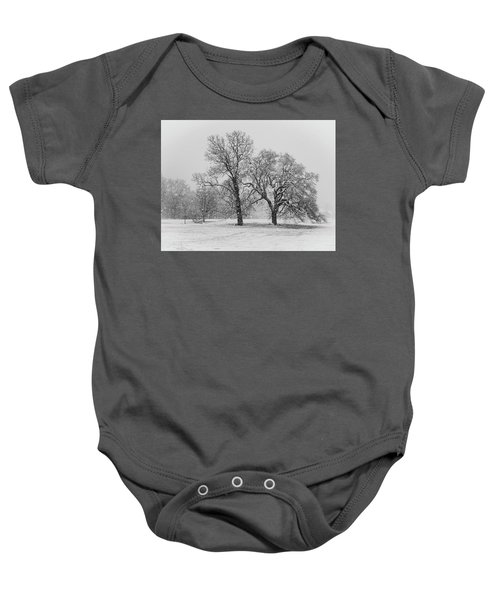 Two Sister Trees Baby Onesie
