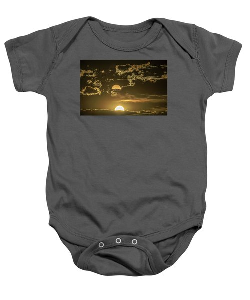 Two Suns Setting Baby Onesie