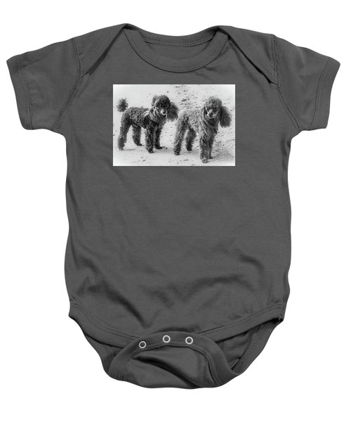 Two Toys B/w Baby Onesie