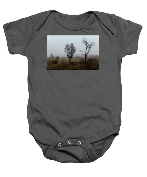 Two Trees In The Fog Baby Onesie