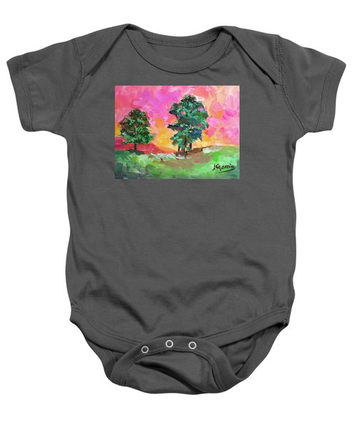 Two Trees Baby Onesie