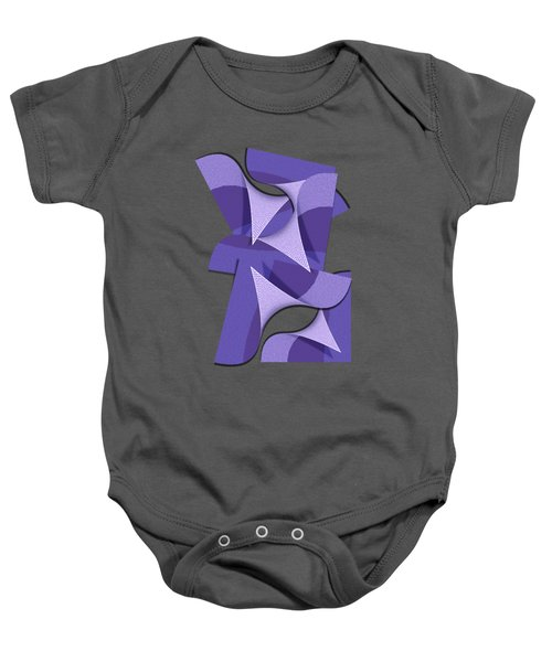 Ultra Violet Abstract Waves Baby Onesie