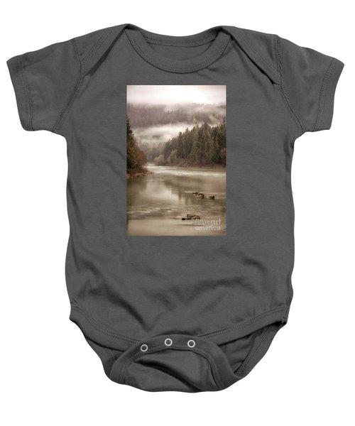 Umpqua River Fog Baby Onesie