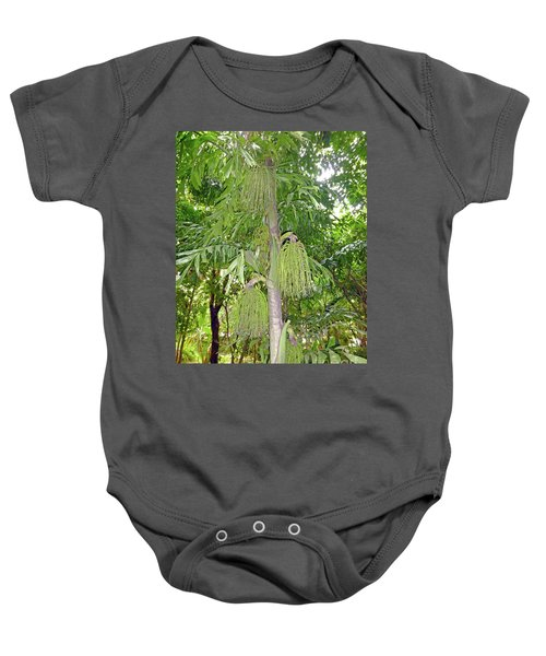 Baby Onesie featuring the photograph Under A Tropical Tree by Francesca Mackenney