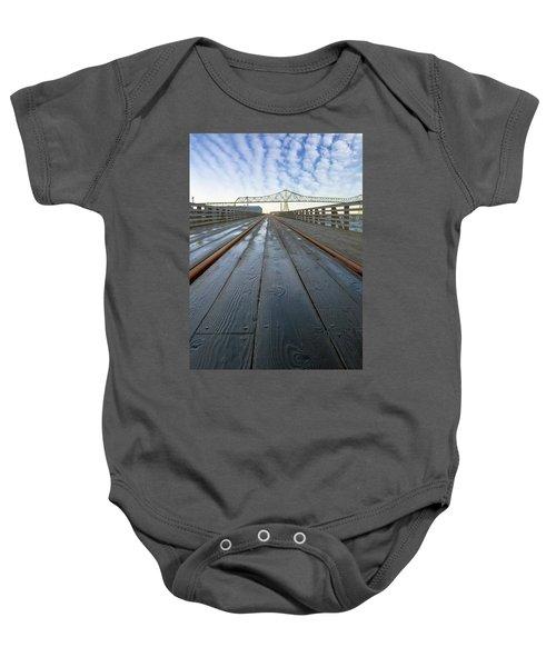 Under Astoria Megler Bridge On Riverwalk Baby Onesie