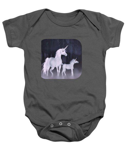 Unicorns In The Mist Baby Onesie