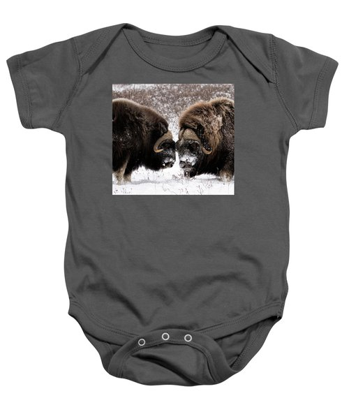 Up Close And Personal Baby Onesie