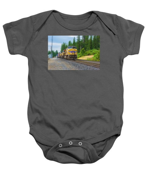 Baby Onesie featuring the photograph Up5698 by Jim Thompson