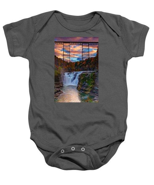Upper Falls Letchworth State Park Baby Onesie
