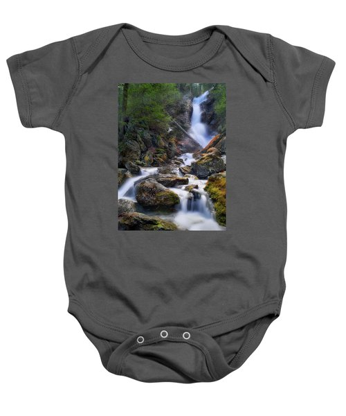 Baby Onesie featuring the photograph Upper Race Brook Falls 2017 by Bill Wakeley