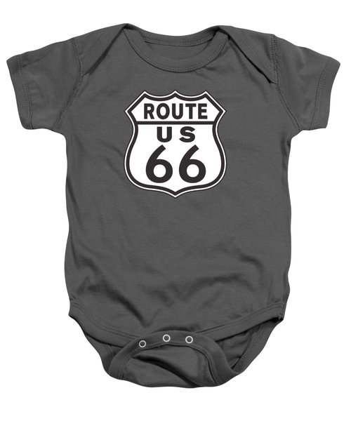 Us Route 66 Sign Baby Onesie