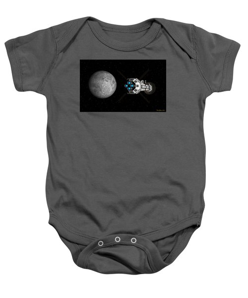 Uss Savannah Passing Earth's Moon Baby Onesie
