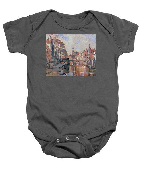 Utrecht Autumn Canal Baby Onesie