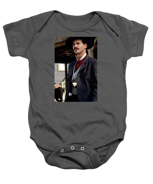 Val Kilmer As Doc Holliday Tombstone Set 1993-2015 Baby Onesie