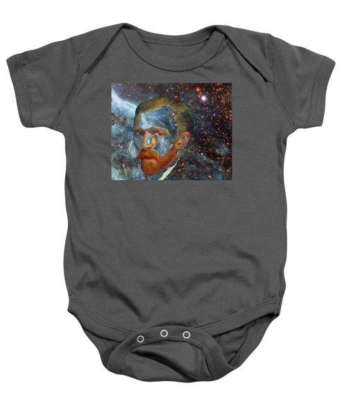 Van Gogh Art Study In Blue Baby Onesie