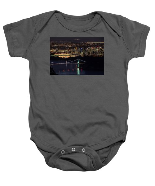 Vancouver Night From Cypress Mountain Baby Onesie