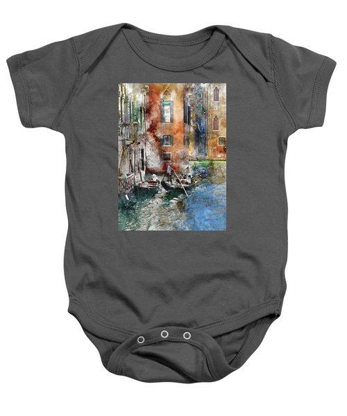 Venetian Gondolier In Venice Italy Baby Onesie