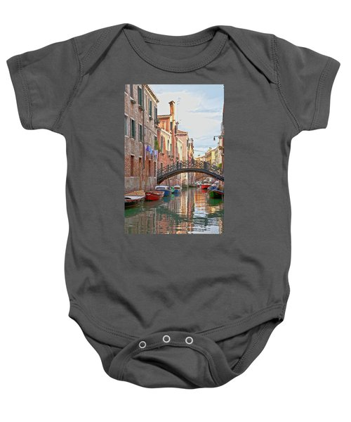 Venice Bridge Crossing 5 Baby Onesie