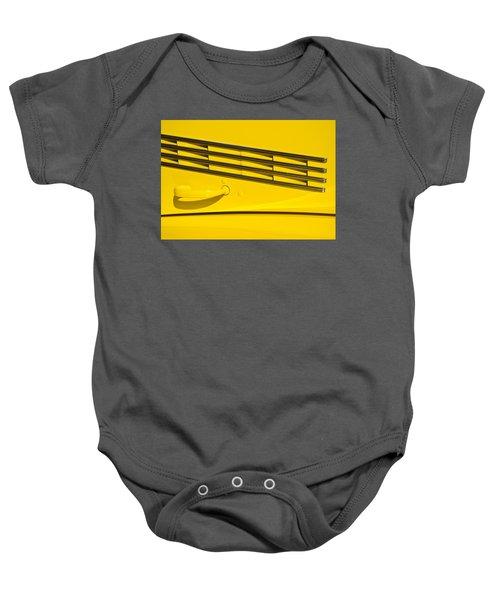 Vented Chrome To Yellow Baby Onesie