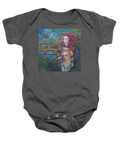 Venus And The Ponte Vecchio  Baby Onesie