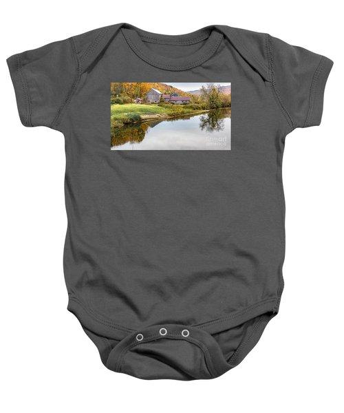 Vermont Countryside Baby Onesie