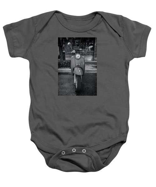 Baby Onesie featuring the photograph Vespa by Sebastian Musial
