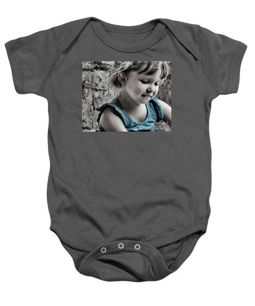 Victoria In Blue Baby Onesie
