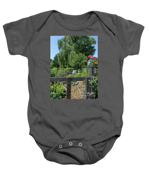 Victory Garden Lot And Willow Tree, Boston, Massachusetts  -30958 Baby Onesie