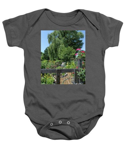 Victory Garden Lot And Willow Tree, Boston, Massachusetts  -30958 Baby Onesie