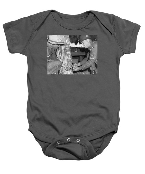 Viet Cong Booby Trap Baby Onesie by Underwood Archives