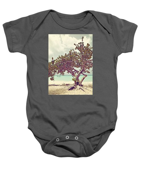View At The Ocean With Boats In The Water Baby Onesie