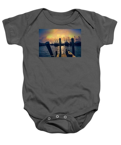 View From The Dock Baby Onesie